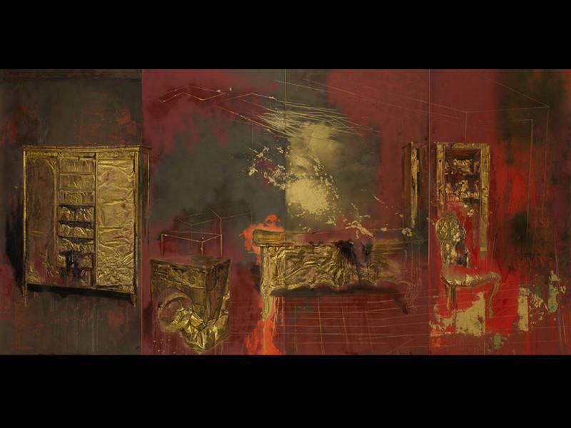 Pintura de los muebles de oro