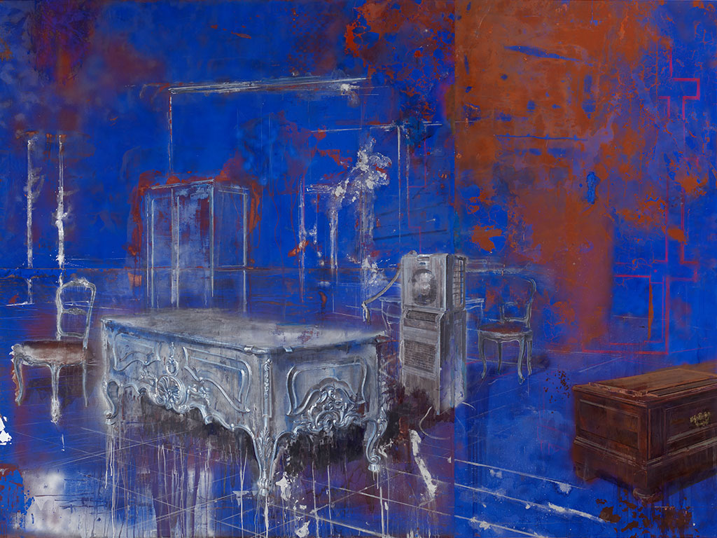 Julio Vaquero - Pintura Azul rasgado