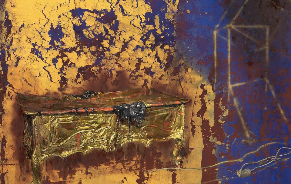 juliovaquero-2015-Mesa-de-oro-bajo-un-haz-de-luz-fragmentado-960x610