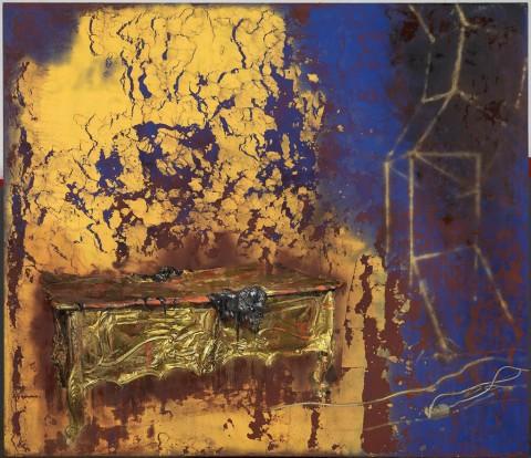 juliovaquero-2015-Mesa-de-oro-bajo-un-haz-de-luz-fragmentado