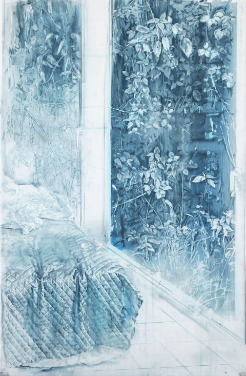 FORMAS-EN-LA-MALEZA-Creta-y-aguada-sobre-papel-vegetal-170x110cms