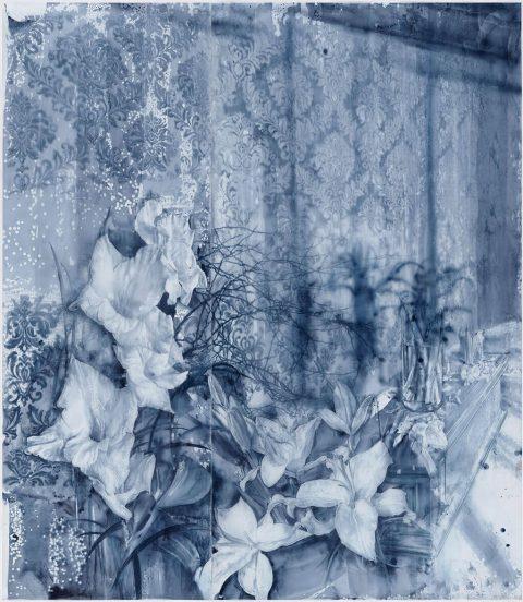 Julio Vaquero - 2019 - Extrañas flores de silencio - 212 x 184 x 4 cm