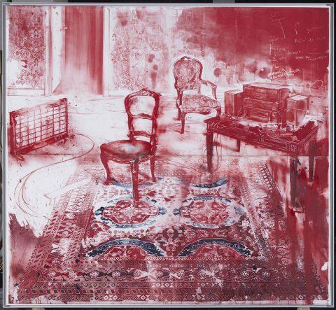 Julio Vaquero - 2020 - Sala de objetos deshechos - 220 x 244 cm